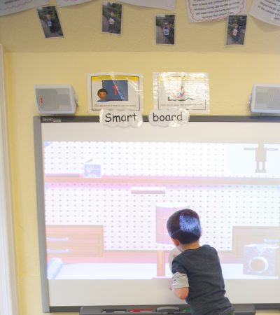 Child at smartboard