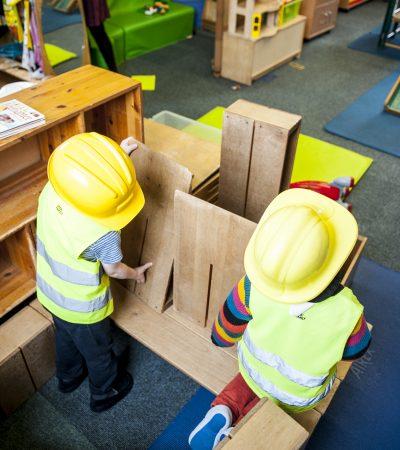 Children dismanteling